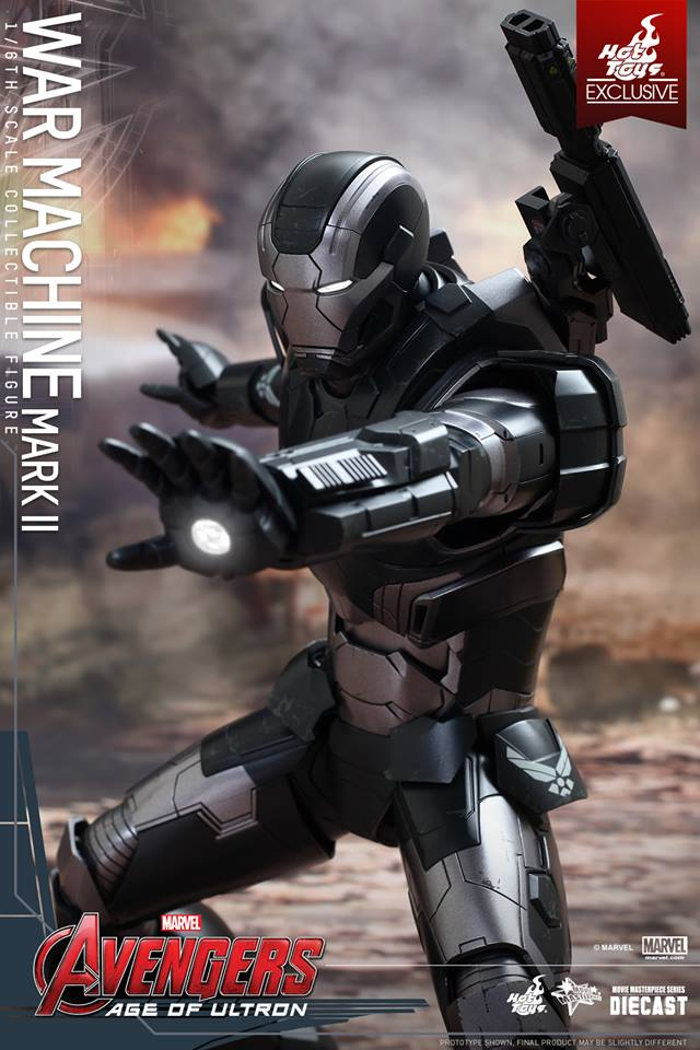 MMS290 Hot Toys War Machine Mark II Avengers Age of Ultron Sixth Scale ...