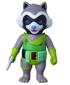 Medicom Rocket Raccoon Retro Marvel Sofubi Figure