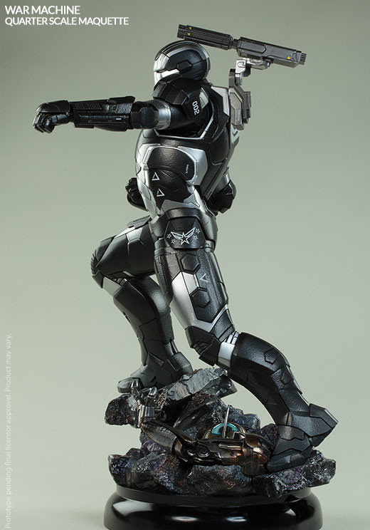 Side View of War Machine Sideshow Quarter Scale Statue Avengers AOU