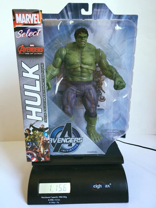 Avengers Age of Ultron Hulk Marvel Select Figure Weight 2 Pounds