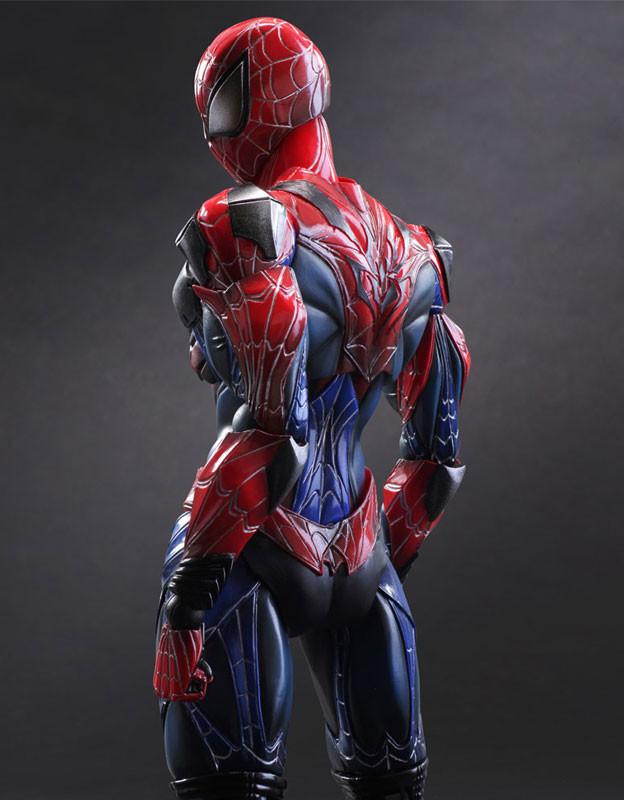 Back of Marvel Play Arts Kai Spider-Man Figure