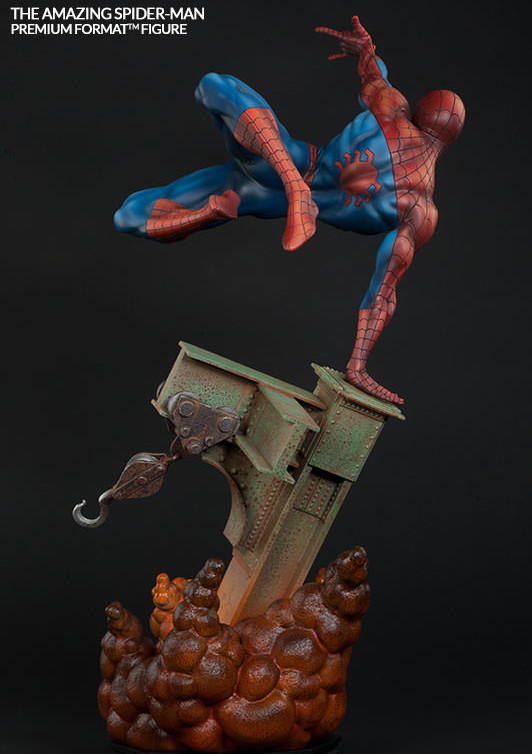 Back of Sideshow Amazing Spider-Man Premium Format Statue