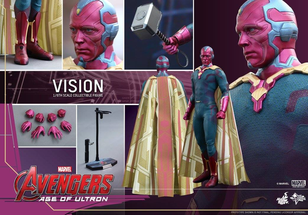 Hot Toys Vision Figure Up for Order! MMS 296 - Marvel Toy News