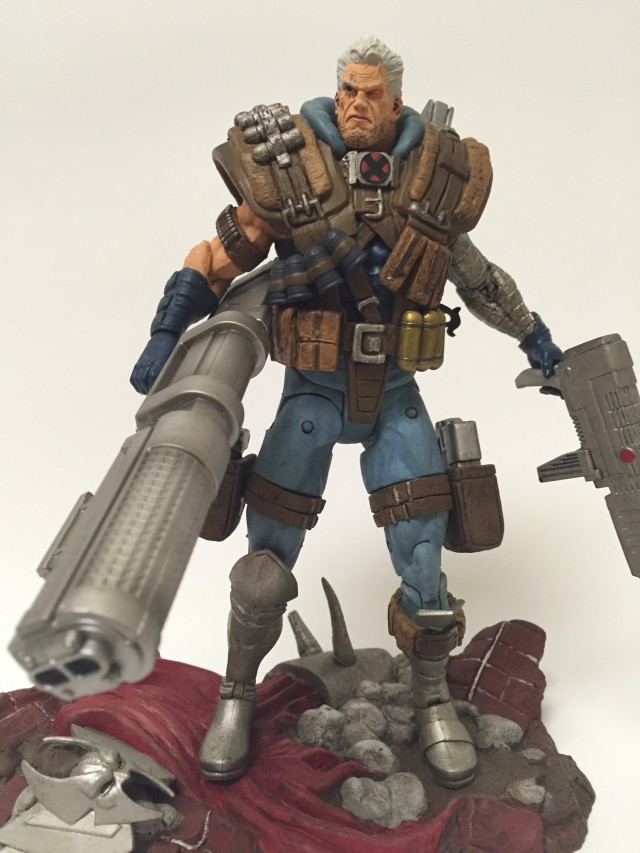 Marvel Select Cable Action Figure on Stryfe Display Base Stand