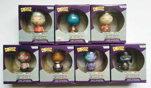 Funko Vinyl Sugar Guardians of the Galaxy Dorbz Figures Packaged