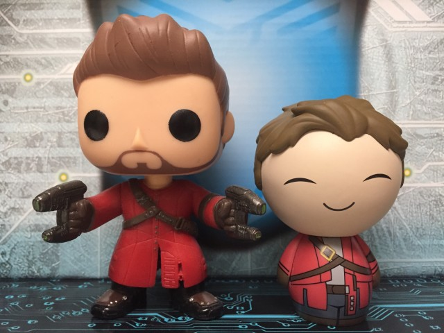 Funko Star-Lord Dorbz and POP Vinyls Figures Comparison