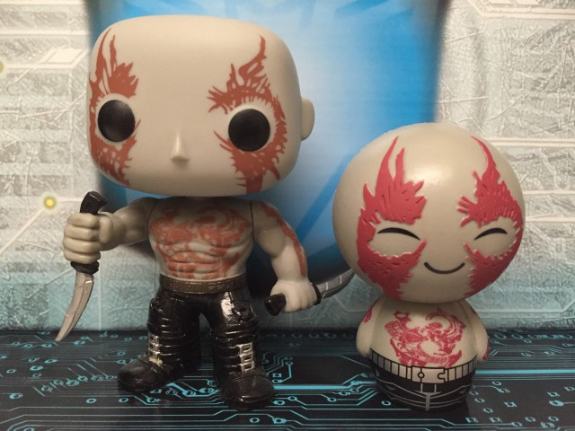 Dorbz Drax POP Vinyls Funko Comparison Photo