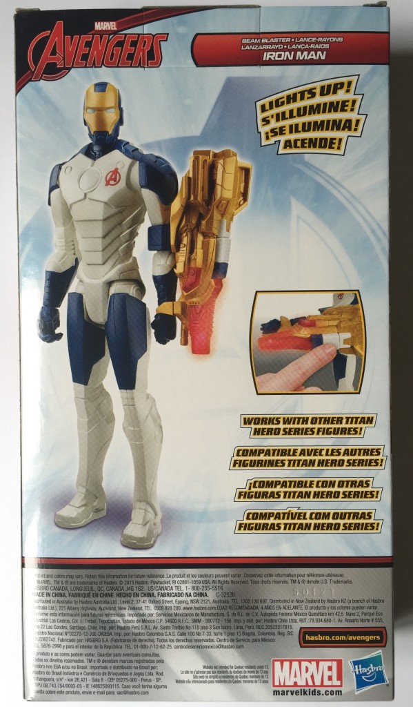 Back of Iron Legion Titan Hero Figure Box