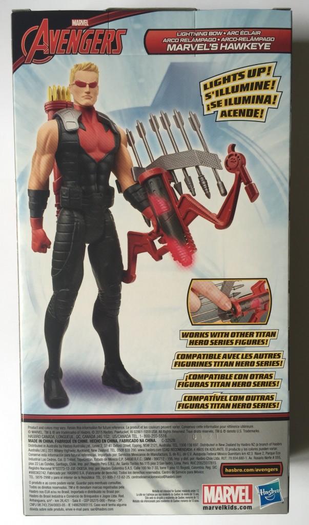 Lightning Bow Hawkeye Titan Hero Box Back