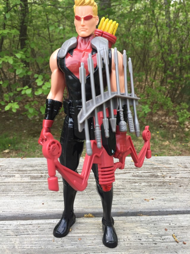 Exclusive Titan Hero Hawkeye Figure with Deluxe Electronic Bow