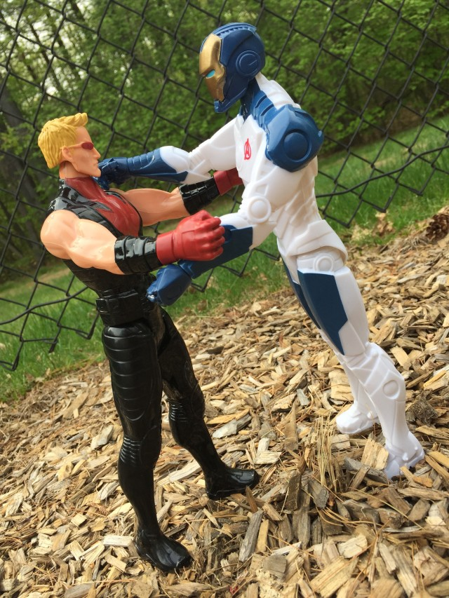 Lightning Bow Hawkeye vs. Beam Blaster Iron Man Hasbro Sixth Scale Figures