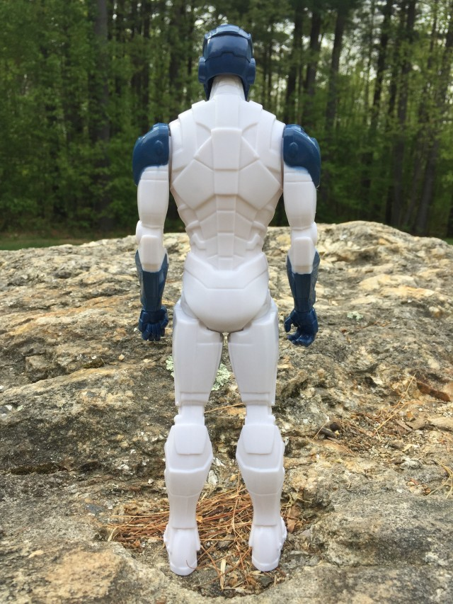 Back of Beam Blaster Iron Man Titan Hero Figure
