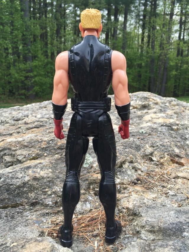 Ultimate Hawkeye Titan Hero Figure Back