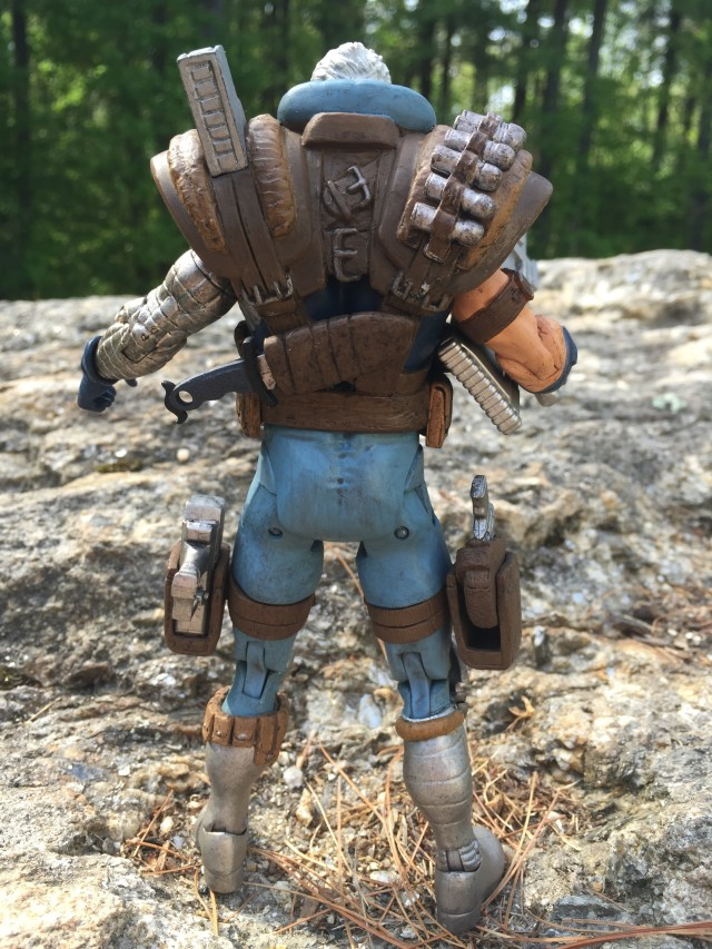 Back of Marvel Select Cable Diamond Select Toys Figure