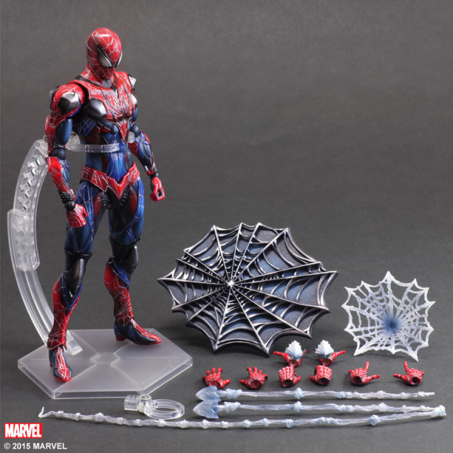 Play Arts Kai Spider-Man Figure and Accessories