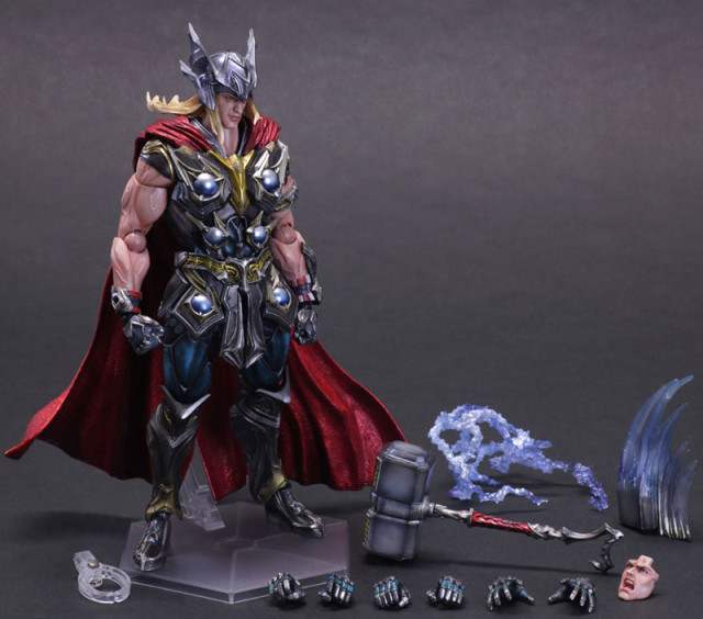 Play Arts Kai Thor Figure and Accessories