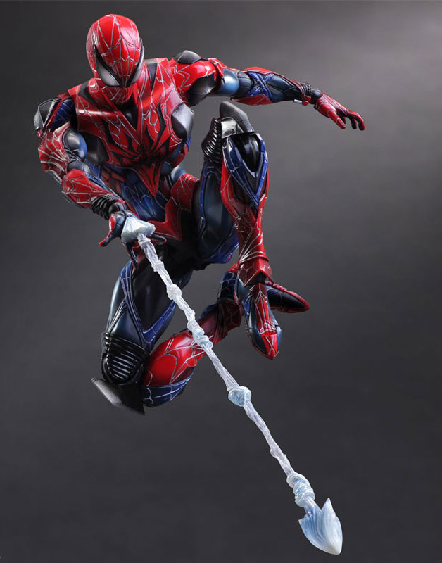 Play Arts Spider-Man Figure Shooting Web