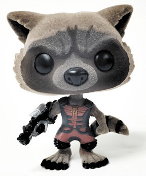 Sdcc 2015 Exclusive Funko Flocked Ravagers Rocket Raccoon