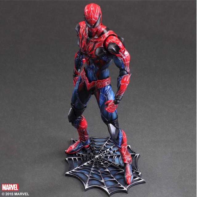 Spider-Man Play Arts Kai Marvel Variant Figure on Base