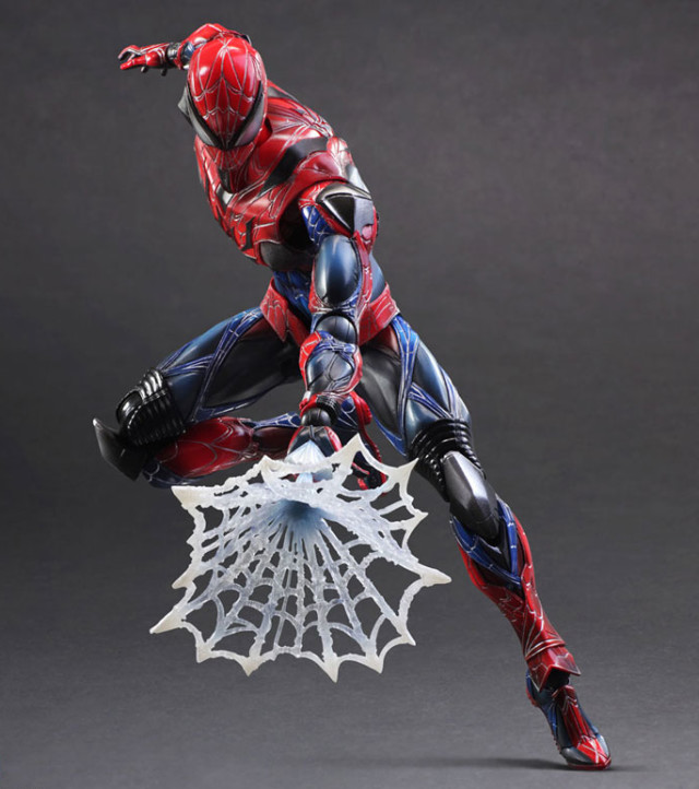 Square-Enix Play Arts Kai Marvel Spider-Man Figure with Webbing
