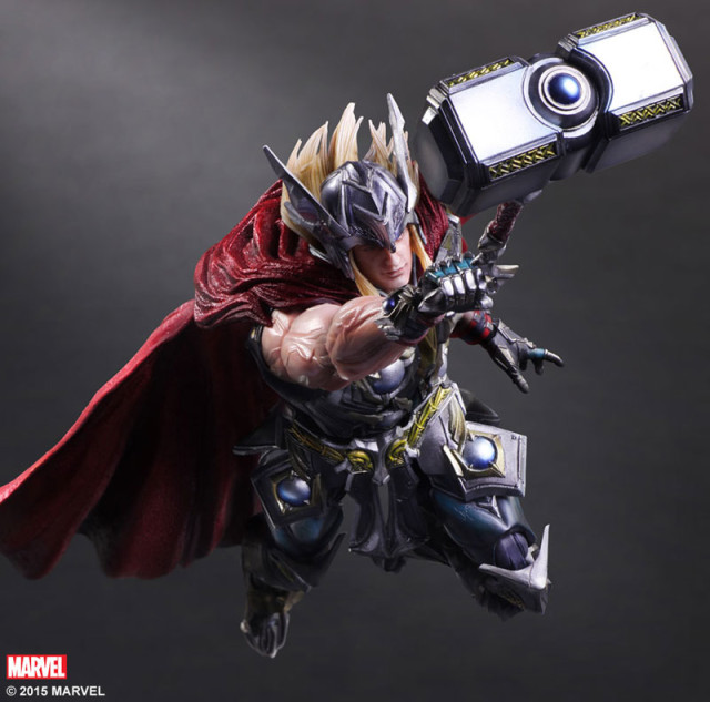 Square-Enix Play Arts Kai Thor Variant Figure Flying