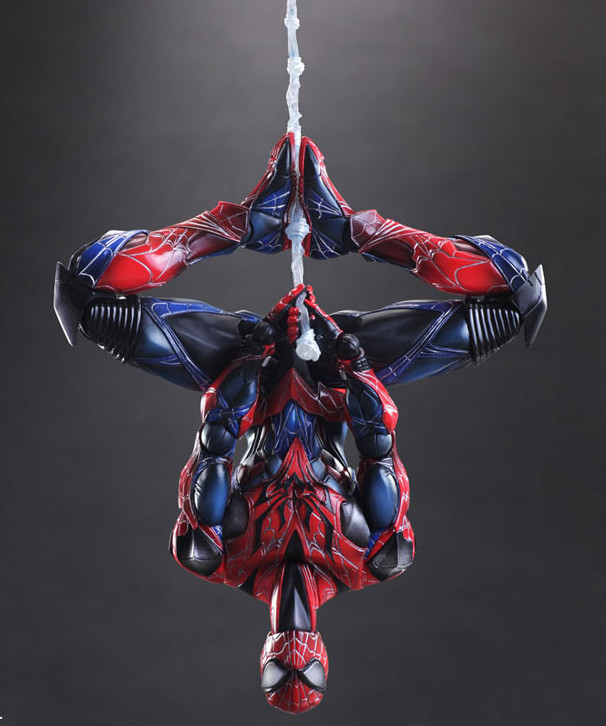 Square-Enix Spider-Man Figure Hanging Upside-Down