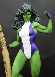 XM Studios She-Hulk Statue Flexing Alternate Arm