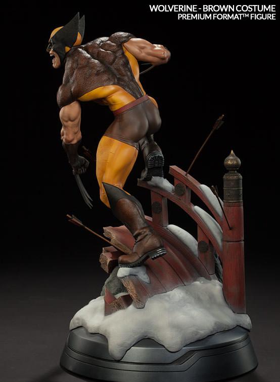 2016 Sideshow Premium Format Figure Wolverine Brown Costume Statue