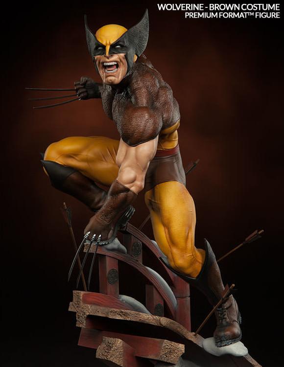 Brown Costume Wolverine Premium Format Figure Statue