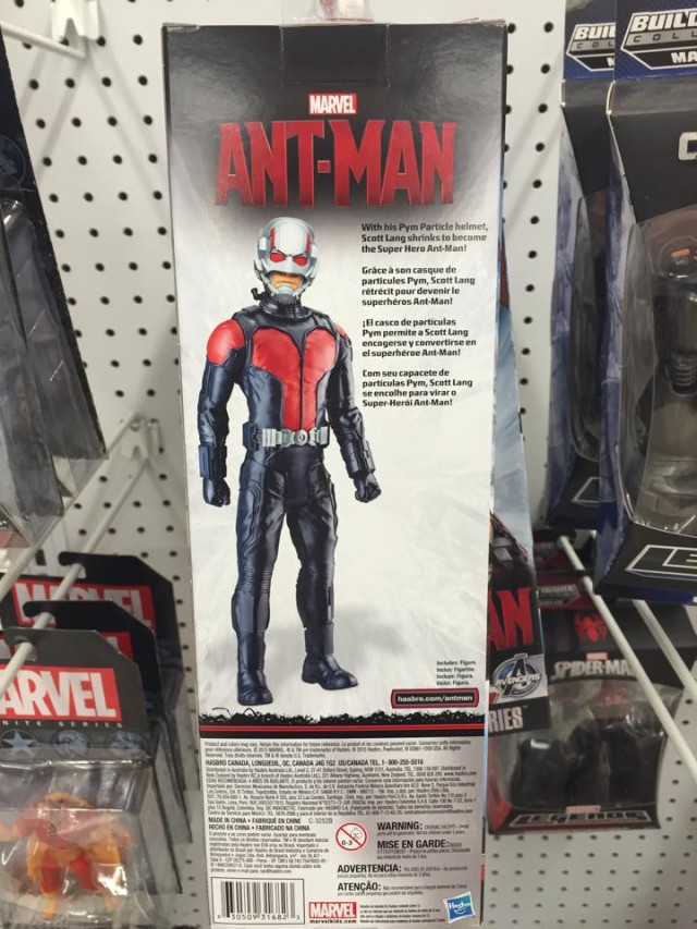 Hasbro Ant-Man Titan Heroes Figure Box Back