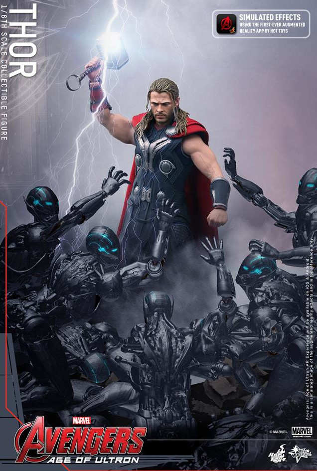 Hot Toys Avengers Age of Ultron Thor Augemented Reality App
