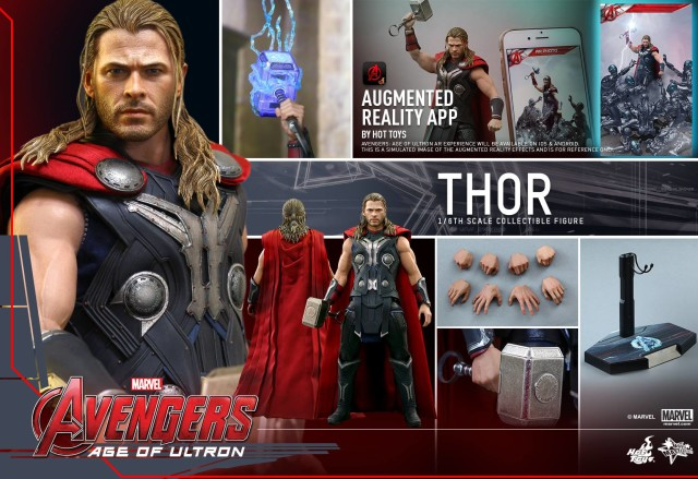 Hot Toys Thor Age of Ultron Figure and Accessories