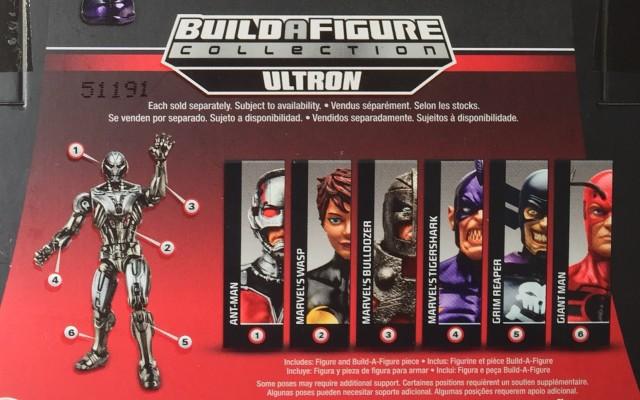 Parts Breadown for Marvel Legends Ultron Prime Series Pieces