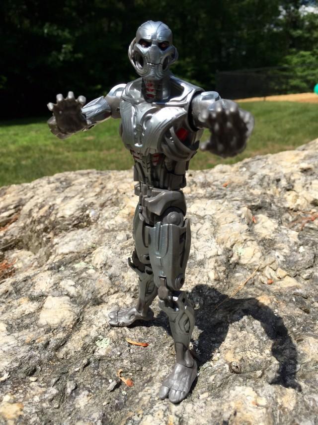 Hasbro Ultron Prime Marvel Legends Figure Posed for Battle