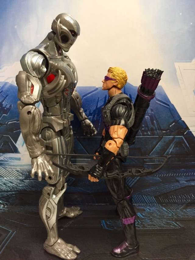 Size Comparison Marvel Legends Ultron Prime Build-A-Figure and Hawkeye