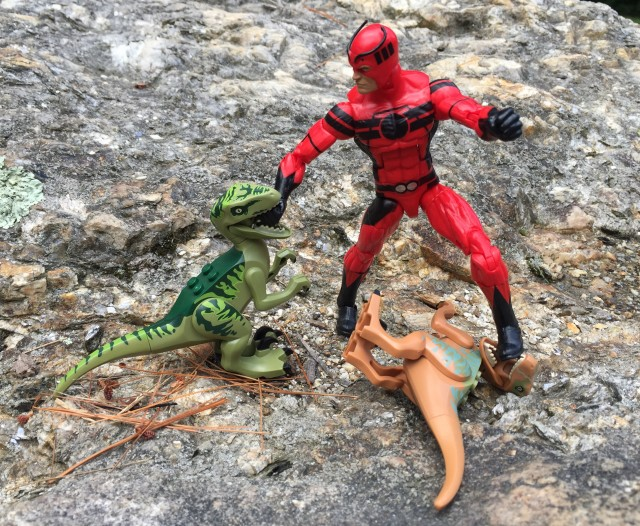 Giant-Man Marvel Legends Ant-Man Series Figure vs. LEGO Raptors