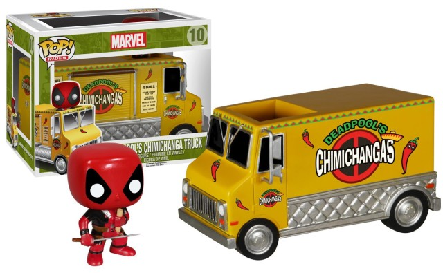 Marvel Funko POP Rides Deadpool Chimichanga Truck Set