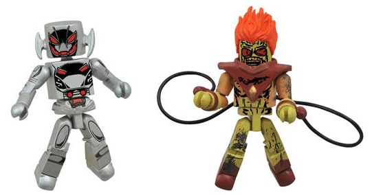 Marvel Minimates Zombie Pyro and Ultron Drone Figures