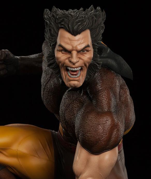 Sideshow Wolverine Unmasked Logan Head 2016 Premium Format Figure Statue