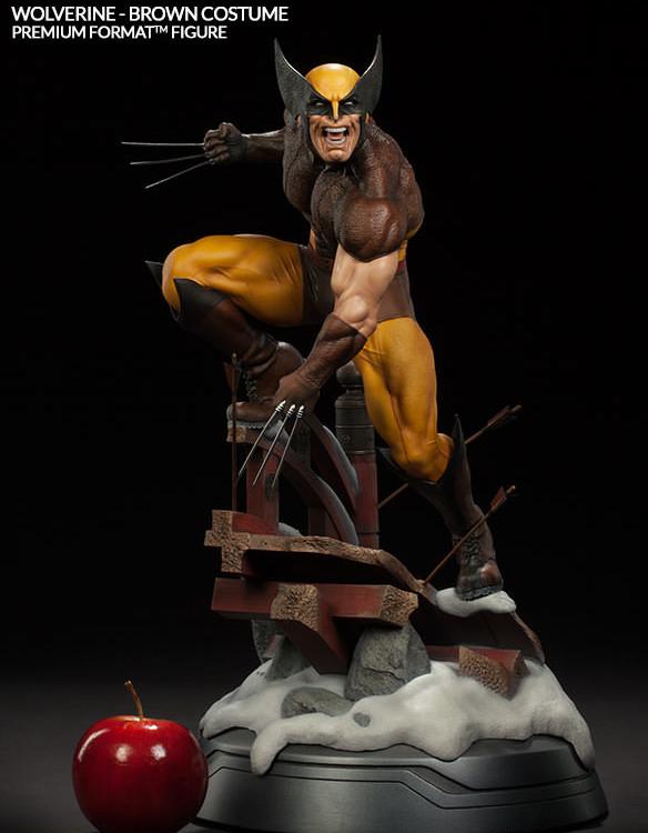 Wolverine Brown Costume Premium Format Figure Size