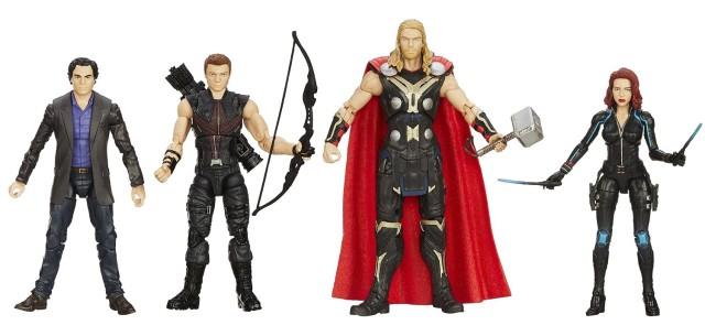 Amazon Avengers Legends 4-Pack Thor Black Widow Hawkeye Banner