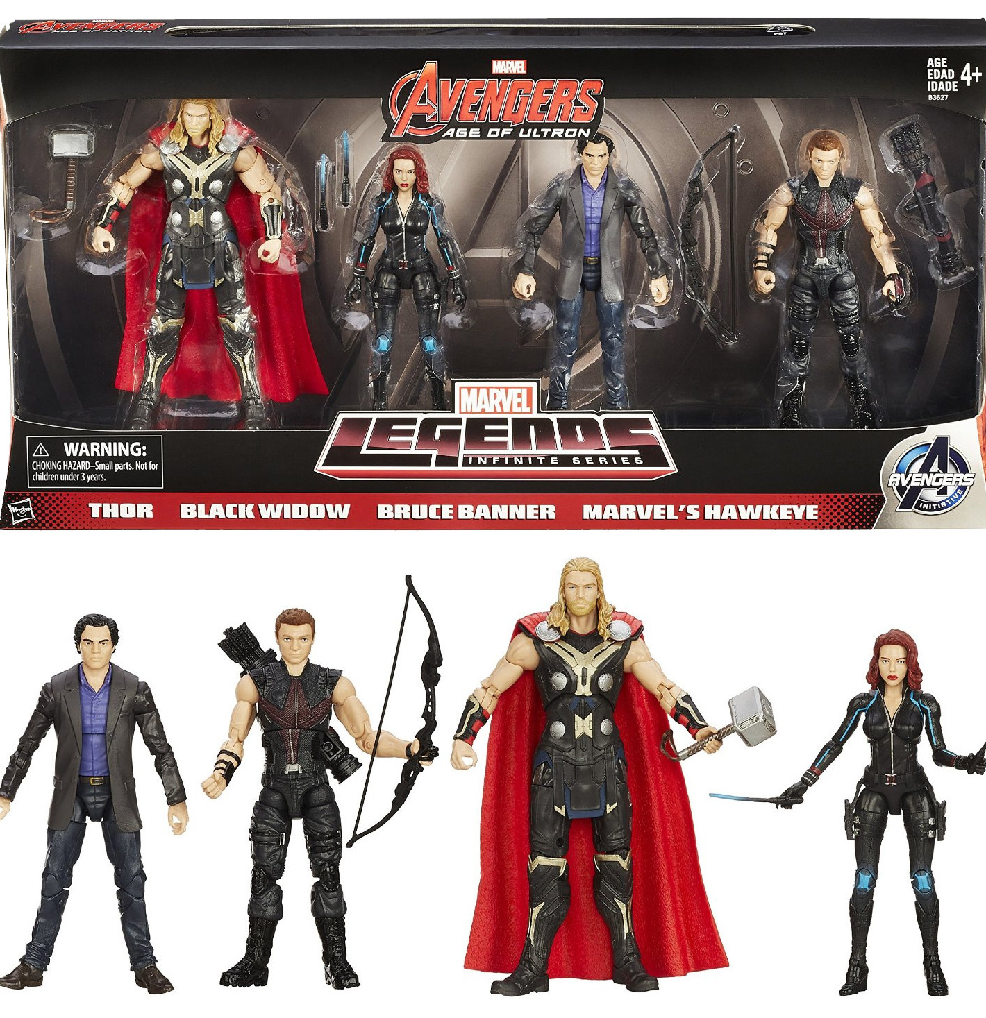 Amazon Avengers Legends 4-Pack Sale: 50% Off Today! - Marvel Toy News