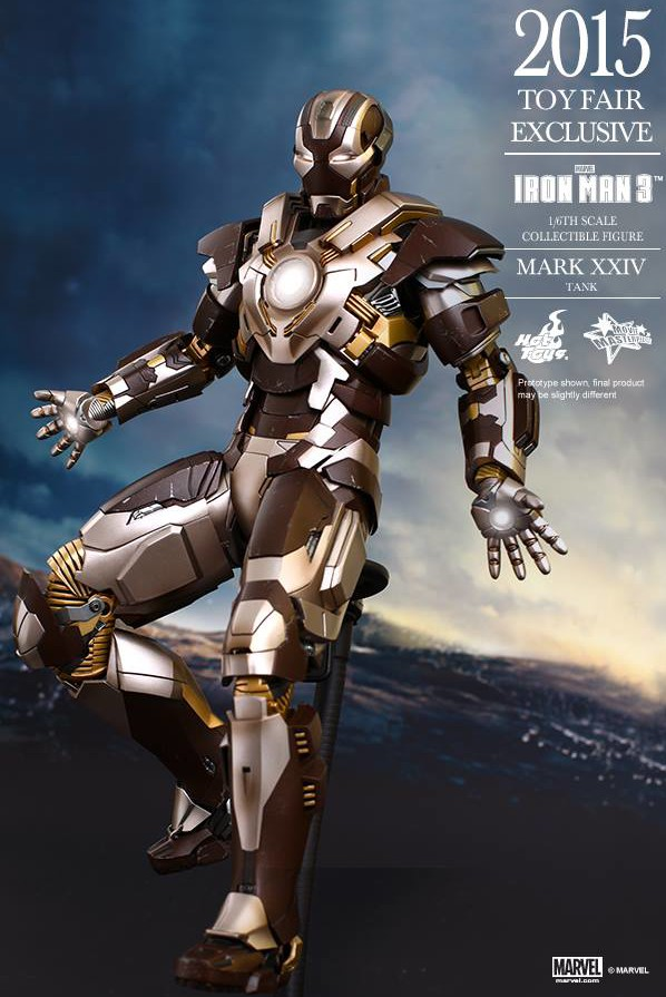 Exclusive Hot Toys Tank Iron Man Mark 24 Sixth Scale Figure