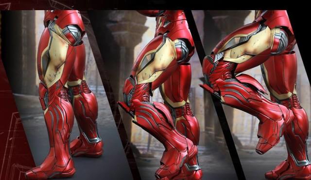 Extending Knee Articulation on Iron Man Mark 45 Hot Toys Quarter Scale Figure