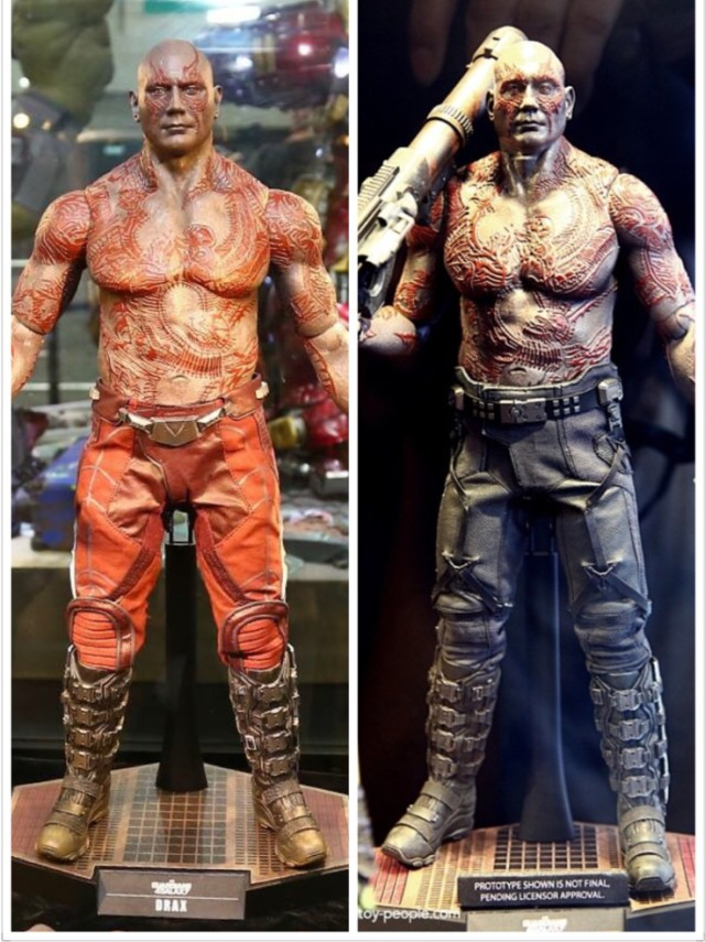 Hot Toys Drax Pants Comparison Photos