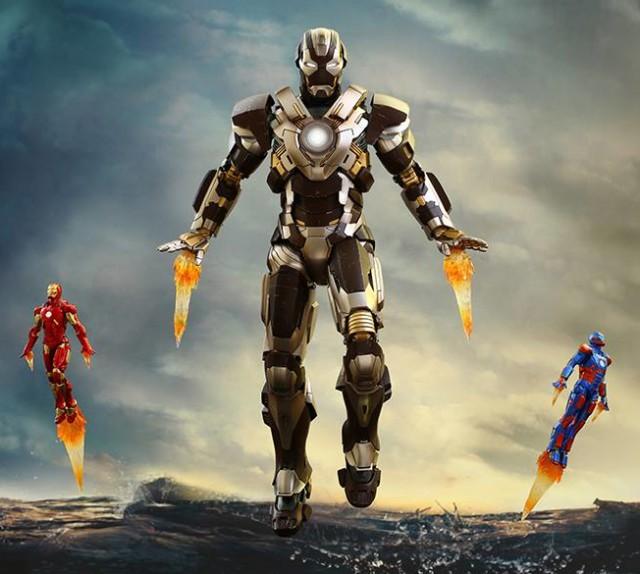 Hot Toys Exclusive Tank Iron Man MMS Figure with Disco Iron Man Mark 9
