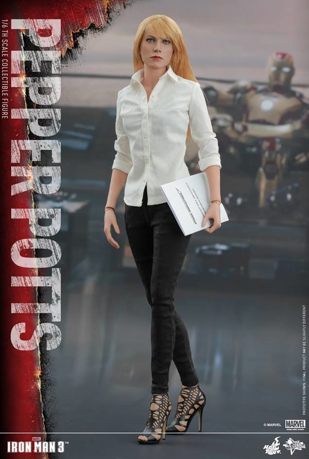 Hot Toys Iron Man 3 Gwyneth Paltrow Pepper Potts Sixth Scale Figure