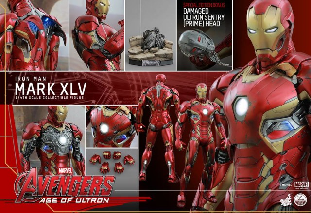 Hot Toys Iron Man Mark 45 Quarter Scale Figure and Accessories