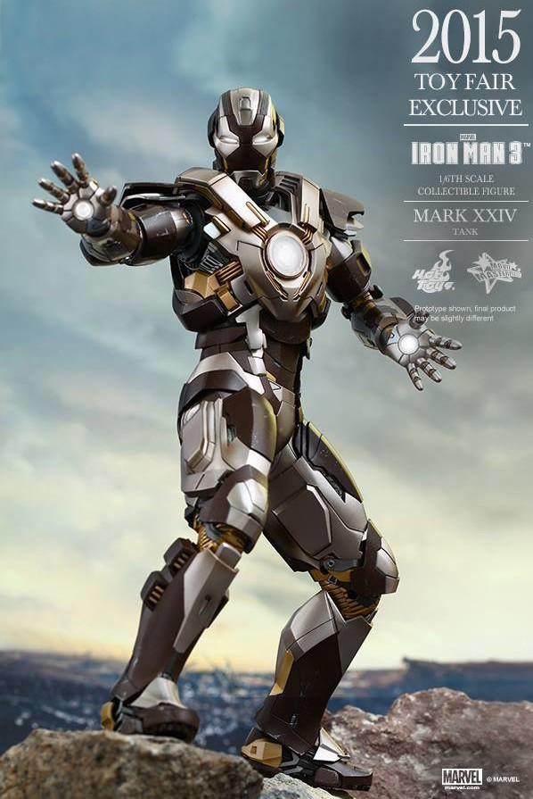 Hot Toys Iron Man Mark XXV Tank Armor Movie Masterpiece Series Figure