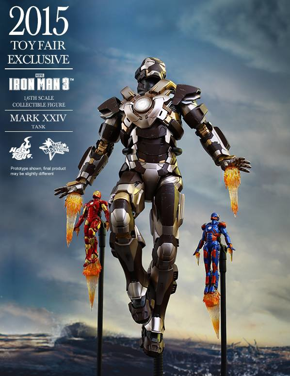 Hot Toys Iron Man Tank Figure with Mini Disco Iron Man Mark 9 Figures